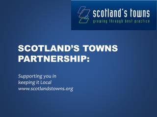 Scotland's towns partnership: