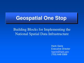 Geospatial One Stop