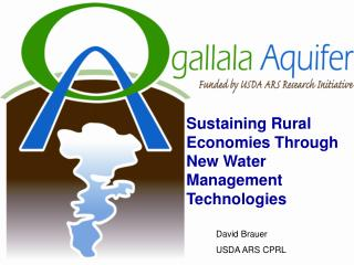 Sustaining Rural Economies Through New Water Management Technologies
