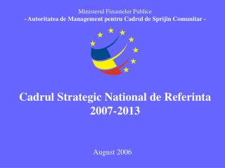 Cadrul Strategic National de Referinta  2007-2013