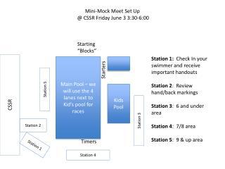 Mini-Mock Meet Set Up @ CSSR Friday June 3 3:30-6:00