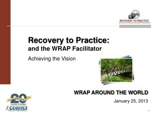 Recovery to Practice:  and the WRAP Facilitator Achieving the Vision