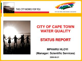 CITY OF CAPE TOWN WATER QUALITY STATUS REPORT