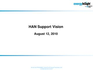 HAN Support Vision August 12, 2010