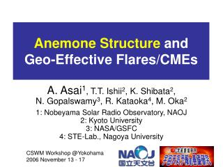 Anemone Structure  and  Geo-Effective Flares/CMEs