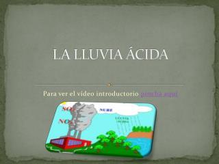 LA LLUVIA ÁCIDA -