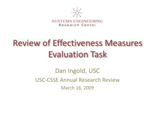 Review of Effectiveness Measures Evaluation Task