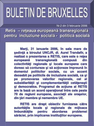 BULETIN DE BRUXELLES