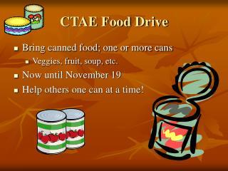 CTAE Food Drive