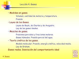 Lección 4. Gases