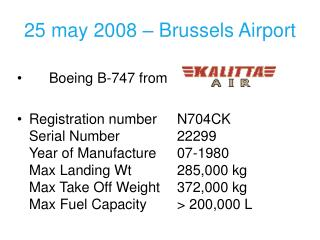 25 may 2008 – Brussels Airport