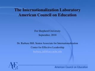 The Internationalization Laboratory  American Council on Education
