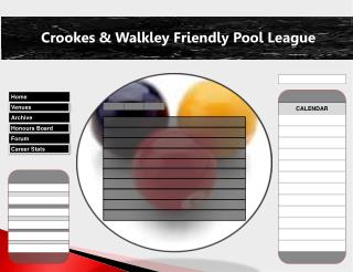 Crookes & Walkley Friendly Pool League