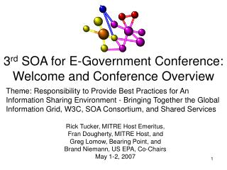 3 rd  SOA for E-Government Conference: Welcome and Conference Overview