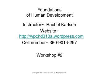 Foundations  of Human Development
