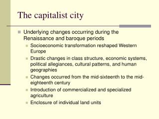 The capitalist city