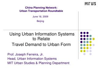 China Planning Network:  Urban Transportation Roundtable