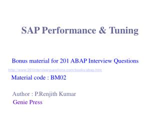 SAP Performance & Tuning