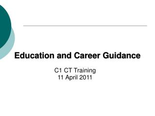 Education and Career Guidance