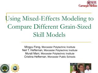 Using Mixed-Effects Modeling to Compare Different Grain-Sized Skill Models