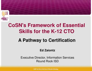 A Pathway to Certification