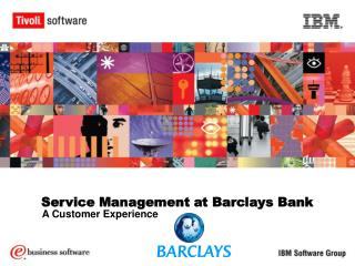 Service Management at Barclays Bank