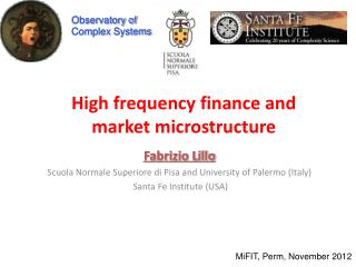 High frequency finance and market microstructure