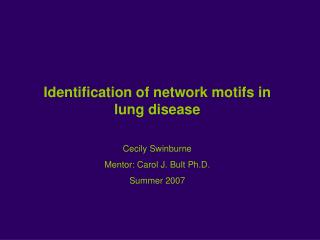 Identification of network motifs in lung disease