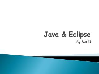 Java & Eclipse