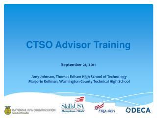 CTSO Advisor Training