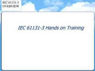 IEC 61131-3 Hands on Training