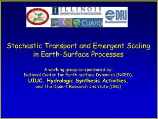 Stochastic Transport and Emergent Scaling  in Earth-Surface Processes