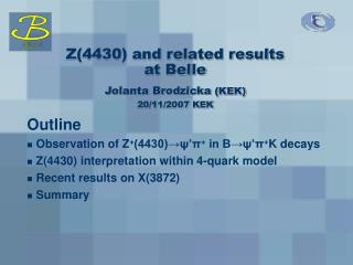 Z(4430) and related results  at Belle