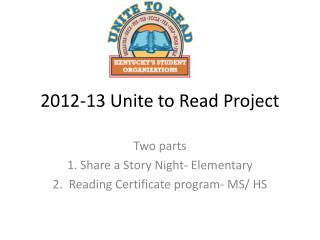 2012-13 Unite to Read Project