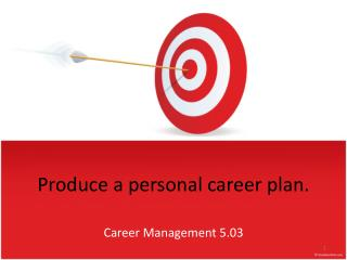 Produce a personal career plan.