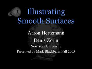 Illustrating  Smooth Surfaces