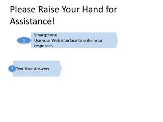 Please Raise Your Hand for Assistance!