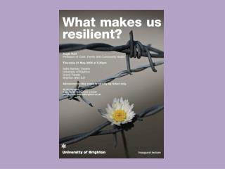 What makes us resilient