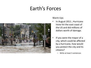 Earth's Forces