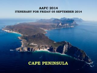 AAFC 2014 ITENERARY FOR FRIDAY 05 SEPTEMBER 2014