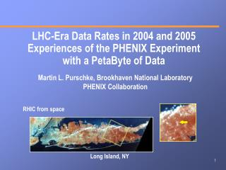 LHC-Era Data Rates in 2004 and 2005 Experiences of the PHENIX Experiment with a PetaByte of Data