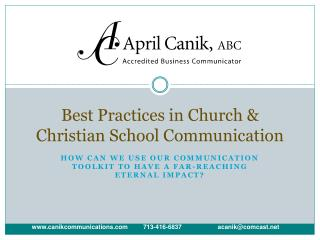 Best Practices in Church & Christian School Communication