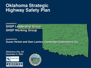 Oklahoma Strategic  Highway Safety Plan