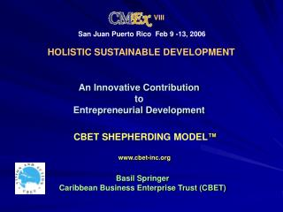 An Innovative Contribution  to  Entrepreneurial Development