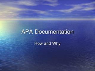 APA Documentation