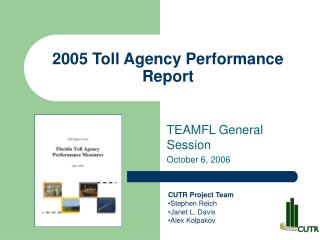 2005 Toll Agency Performance Report