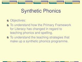 Synthetic Phonics