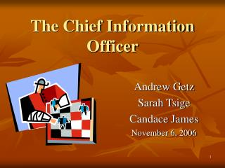The Chief Information Officer