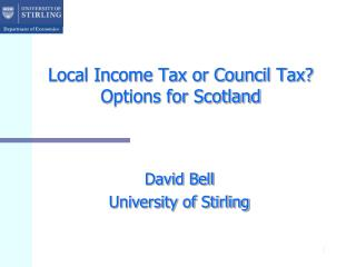 Local Income Tax or Council Tax? Options for Scotland