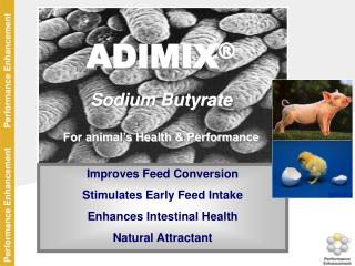 ADIMIX ® Sodium Butyrate For animal's Health & Performance